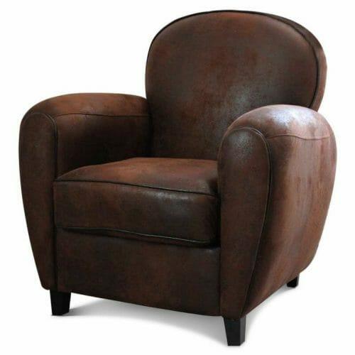 fauteuil club marron pour la maison
